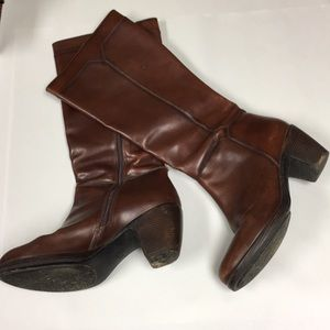 Dansko knee high boots leather